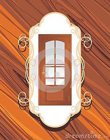 Manufacture Of Doors. Decorative Label Royalty Free Stock Photography - Image: 25847497