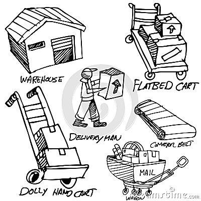 Manufacturing Icon Drawing Set