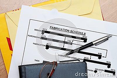 Manufacturing schedule