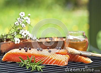 Manuka and honey smoked salmon royalty free stock photo for Honey smoked fish