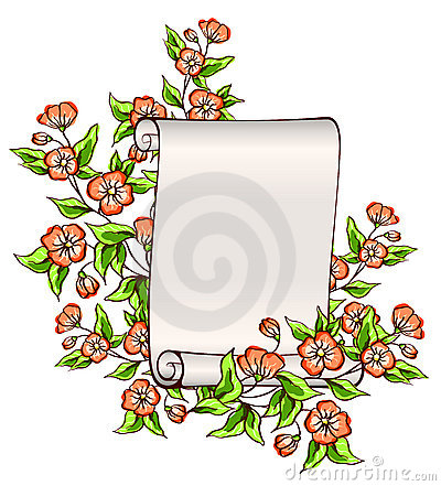 Manuscript with flowers