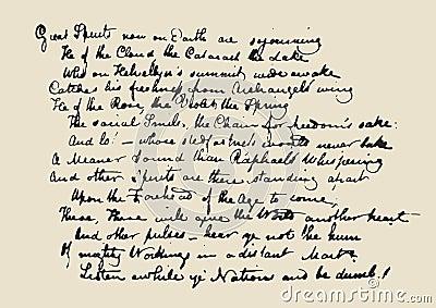 Manuscript letter