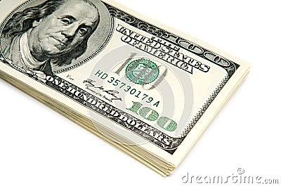 Many american dollar bills