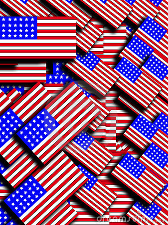Many American Flags 4
