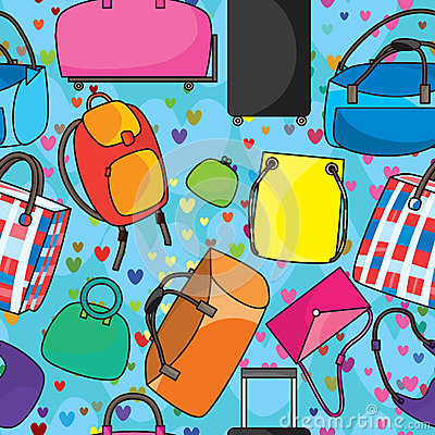 Many Bags Love seamless Pattern_eps