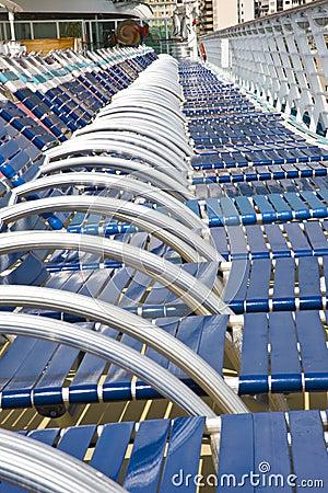 Many beach chairs