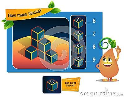 Many blocks game Stock Photo