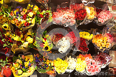 Many Bouquets in Flower Shop