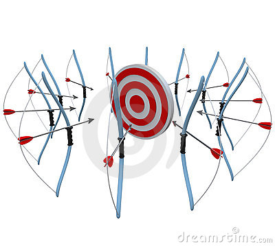 Many Bows and Arrows Aim One Target in Competition