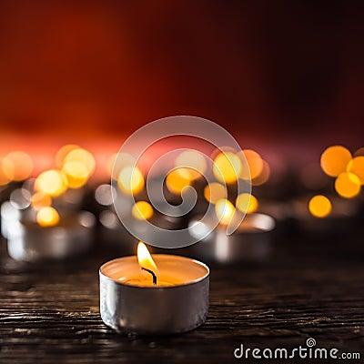 Free Many Candles Symolizing Funeral Religios Christmas Spa Celebration Birthday Spirituality Peace Memorial Or Holiday Burning Stock Image - 131926261