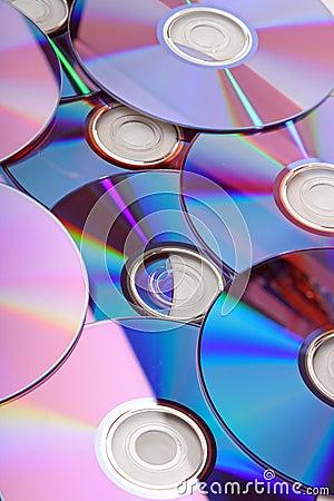 Many CD s isolated
