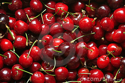 Many cherries
