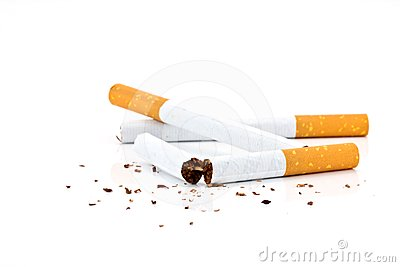 Many cigarettes
