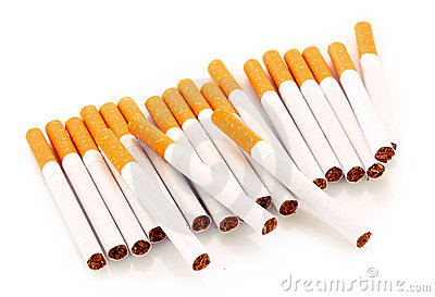 Many cigarettes isolated