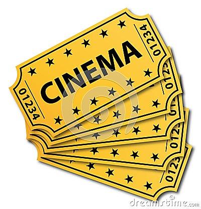 Many cinema tickets.