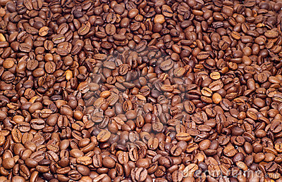 Many coffee beens texture