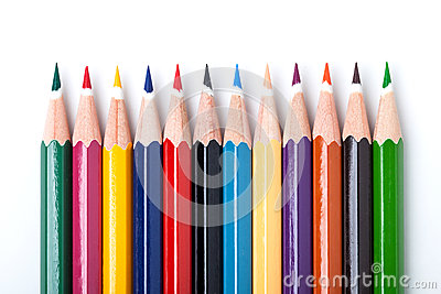 Many color pencils