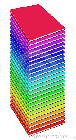 Many colored blank magazine cover