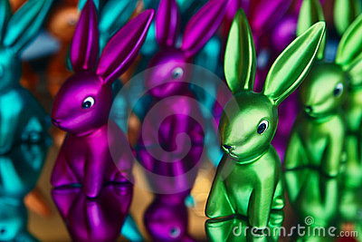 Many-colored rabbit