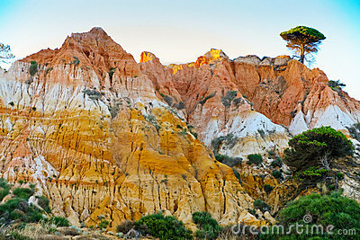 Many-colored sand mountain