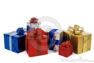 Many colorful presents