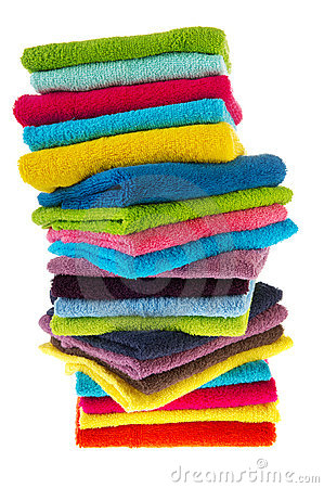 Many colorful towels