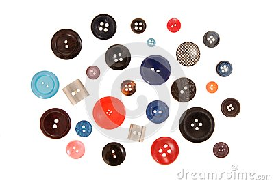 Many-coloured buttons.