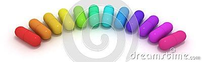 Many-coloured capsules
