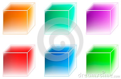 Many-coloured ice cubes