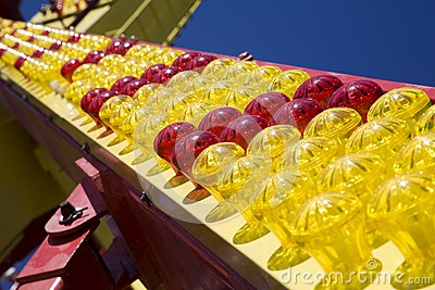 Many-coloured light bulbs