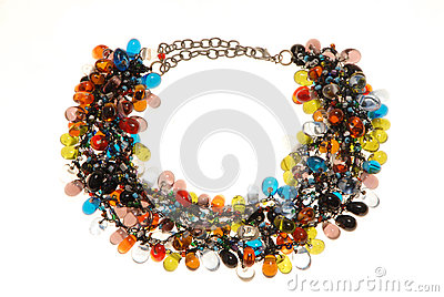 Many-coloured necklace.