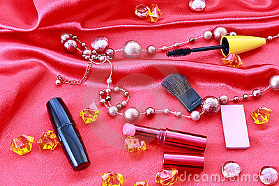 Many Cosmetics Royalty Free Stock Photos - Image: 12863528