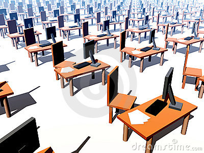 Many Desks With Chairs 1