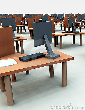 Many Desks With Chairs 4