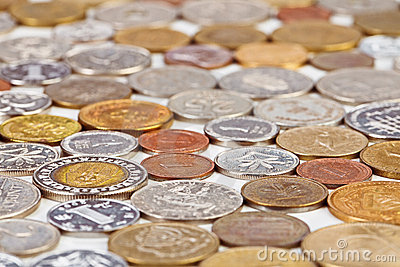 Many different coins collection