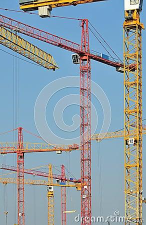 Free Many Elevating Cranes Stock Photo - 13941290