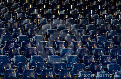 Many Empty Blue Sit Royalty Free Stock Image - Image: 23347516