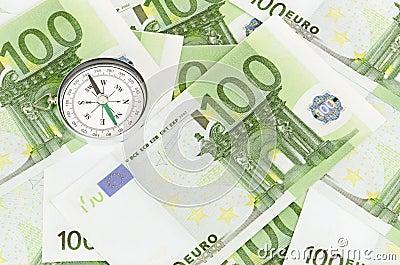 Many euro bank notes
