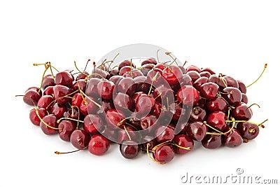 Many fresh cherries