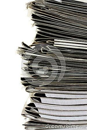 Many gray folder