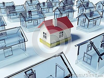 Many houses.