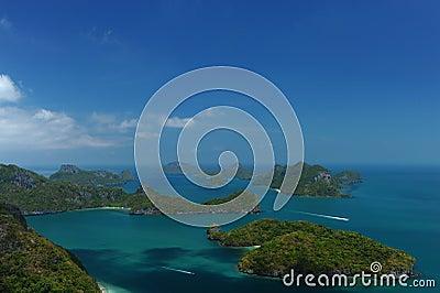 Many island in ocean
