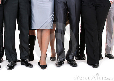 Many legs of a businesspeople