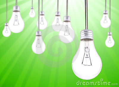 Many Lightbulbs Hanging