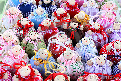 Many little dolls