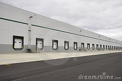 Many loading docks