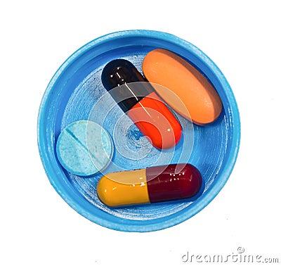 Many medicine pills