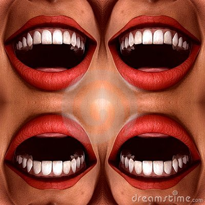 Many Mouths Seamless Tile Pattern Background 2