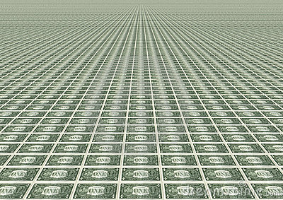 Many one dollar bills