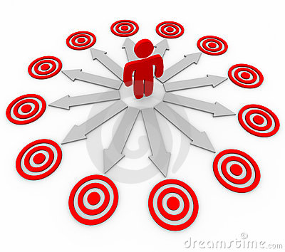 Many Opportunities are Targeted - Man and Arrows